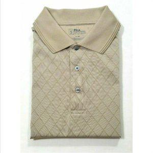PGA TOUR Golf Men Polo Shirt Argyle 2518E1M
